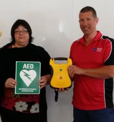 Bucketts Way Neighbourhood Group takes ownership of AED and receives First Aid & CPR training from First Aid & Safety Training